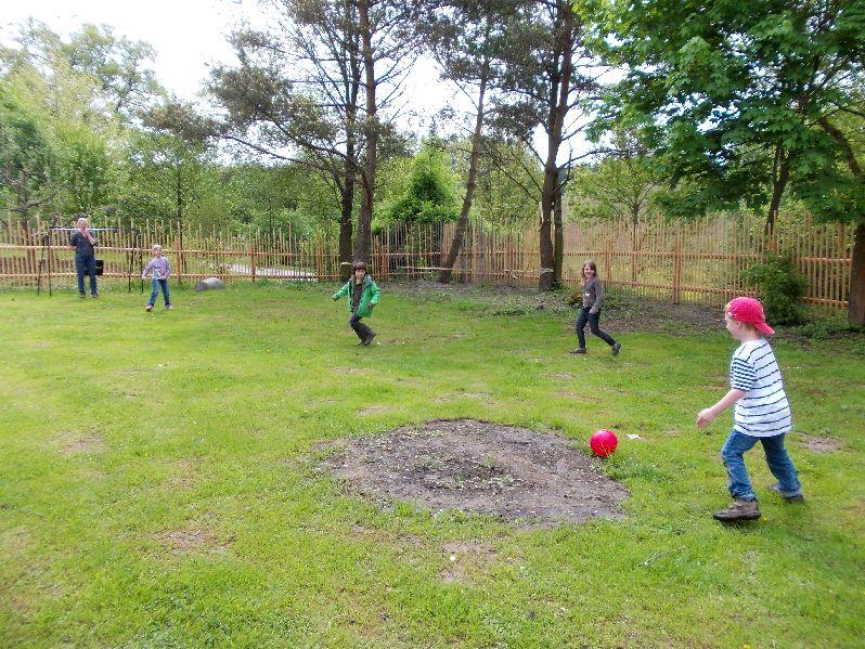 erstes Fußball in der Gartenerweiterung